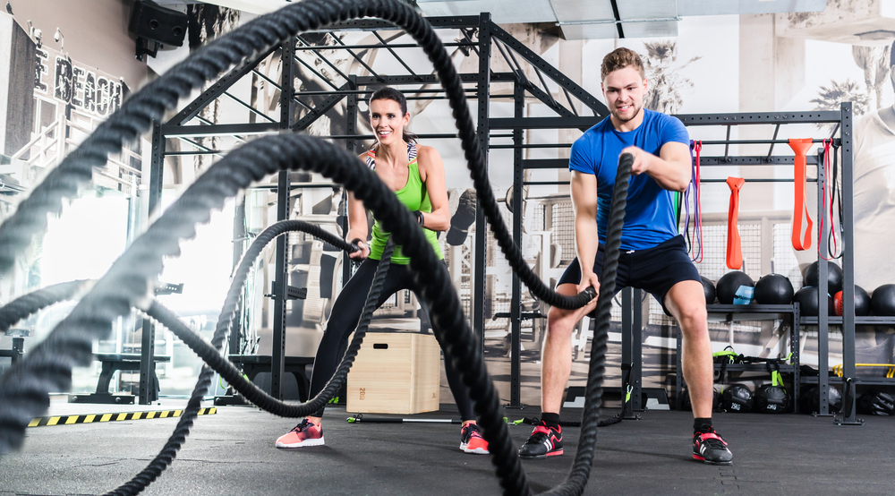 Battle ropes Shutterstock Strong Fit Well