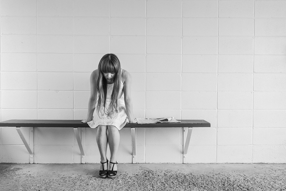 Stress worried girl bench Pixabay Strong Fit Well