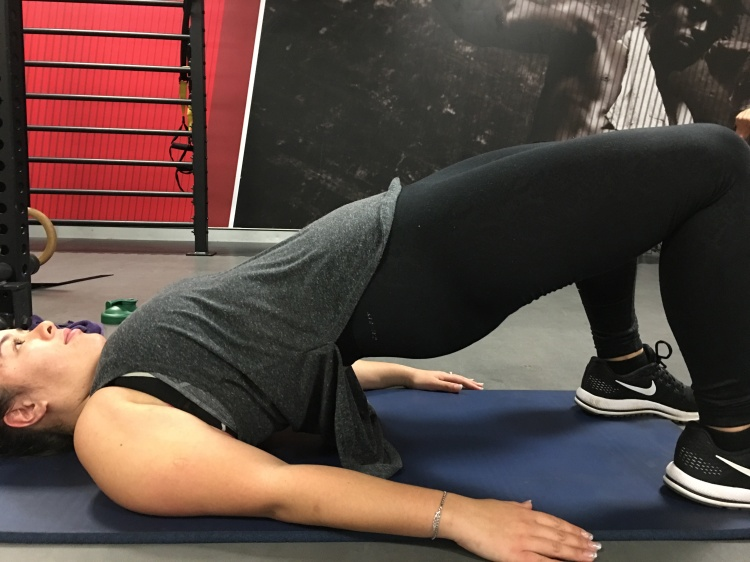 Glute bridges help work the deeper level of the core