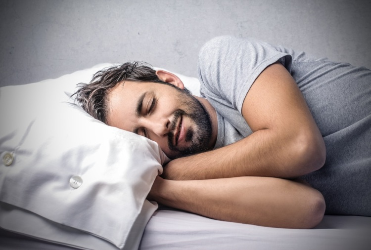 Sleeping man Shutterstock Strong Fit Well