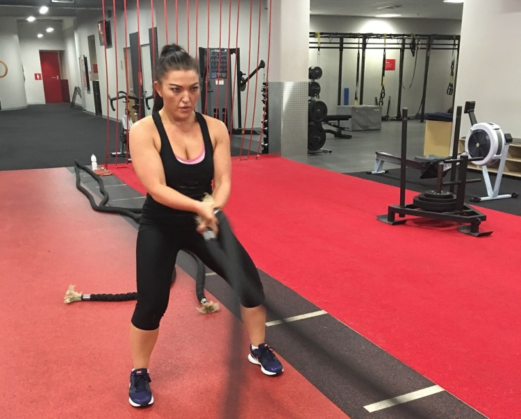 Battle Ropes Suzanne Strong Fit Well