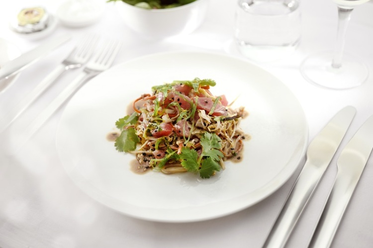 Tuna poke salad with wakame and sesame soy dressing - Business menu ex AUS