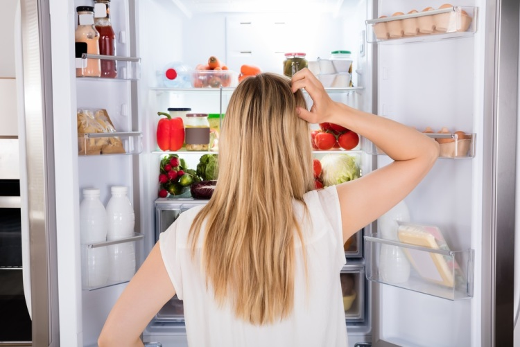 Hungry woman fridge Shutterstock Strong Fit Well