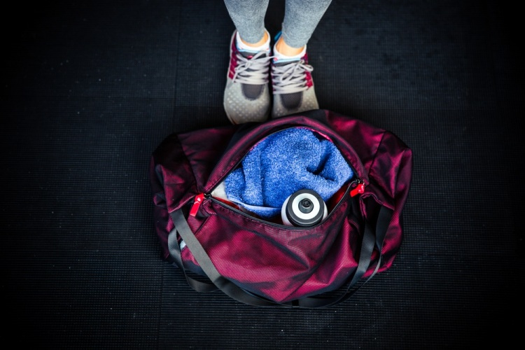Gym bag Shutterstock Strong Fit Well