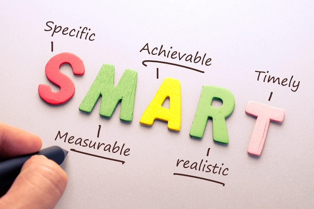 SMART goals Shutterstock Strong Fit Well