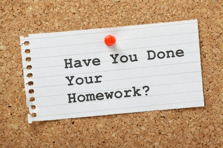 Homework sign board Shutterstock Strong Fit Well